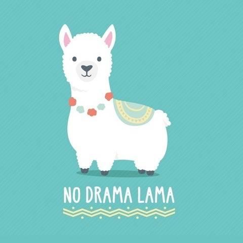 SVG - Plotterdatei - No Drama Lama