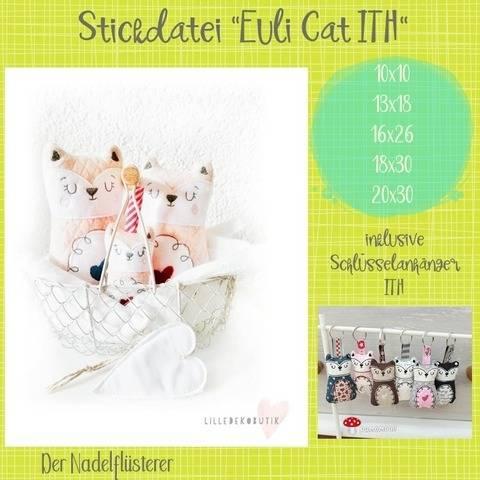 Digitale Stickdatei Euli Cat ITH 10x10 - 20x30