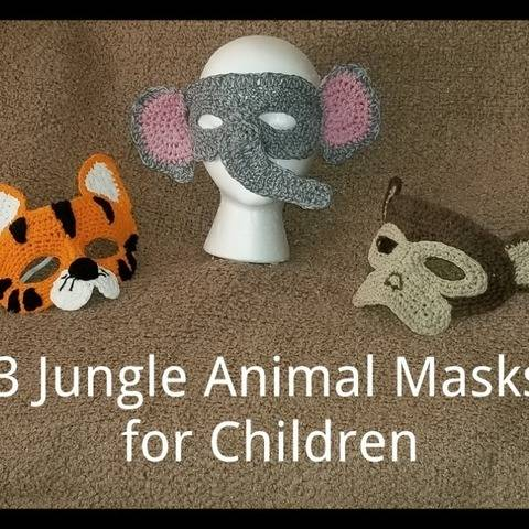 Jungle Animal Masks Pattern at Makerist