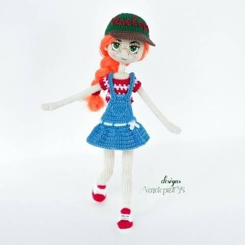Amigurumi Doll Summer in sundress Crochet Pattern
