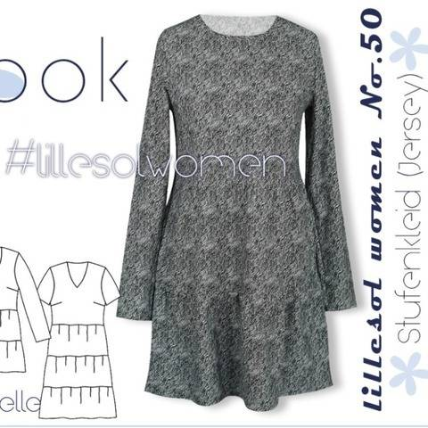 Ebook / Schnittmuster lillesol women No.50 Stufenkleid bei Makerist