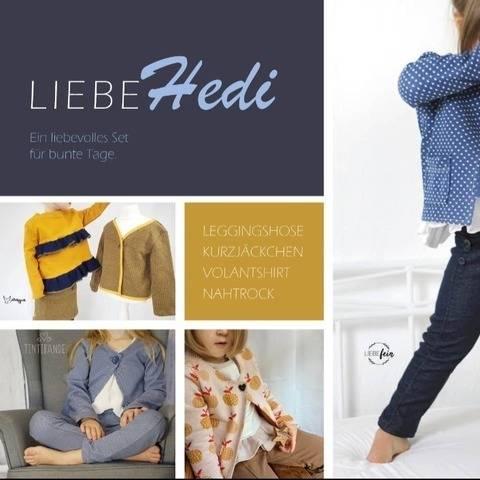 Liebe Hedi - Liebefein - Set Jacke Hose Rock Shirt 98 - 134 bei Makerist