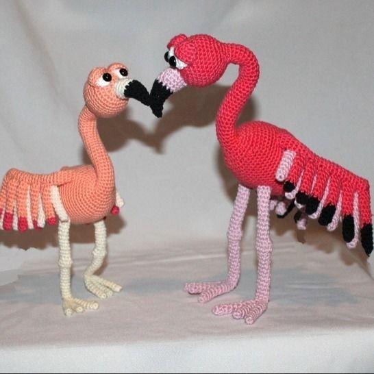 Flamingos Fina und Flora Häkelanleitung bei Makerist - Bild 1