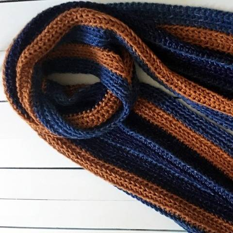 Crochet Scarf Pattern PDF (Easy Strapping Striped Man Scarf) at Makerist