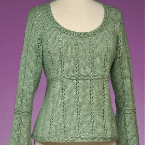 Top-Down Empire Waist Pullover #172 at Makerist