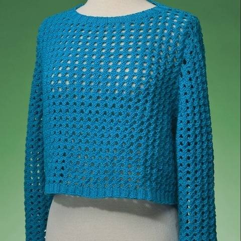 Top-Down Cropped Pullover #171 at Makerist