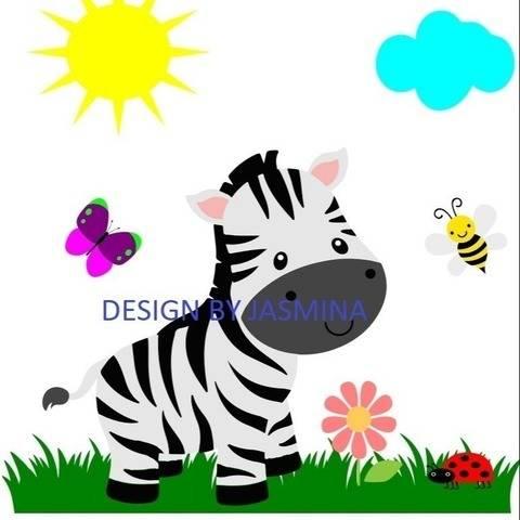 Plotterdatei  Zebra Dschungel  SVG