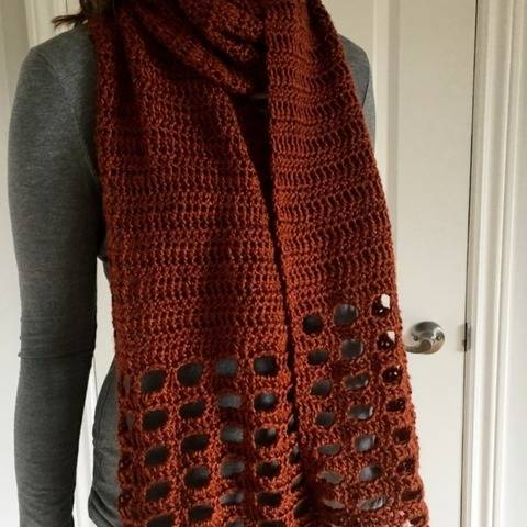 Crochet Womens Scarf Pattern PDF (Pretty Easy Scarf) at Makerist