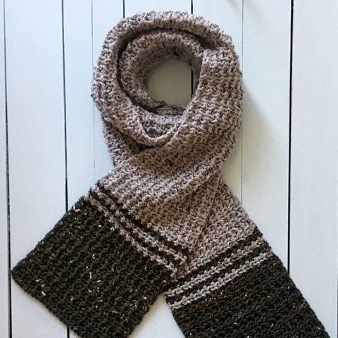 Mens Crochet Scarf Pattern PDF (Make-Me-In-Hdc Scarf) at Makerist