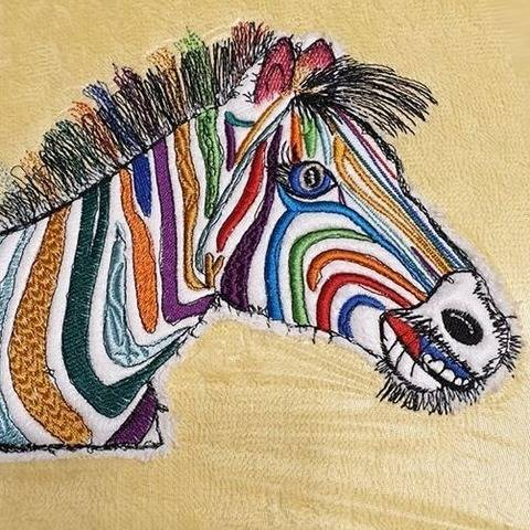 "Zebra ""Hingucker ♥ 23x18 bei Makerist"