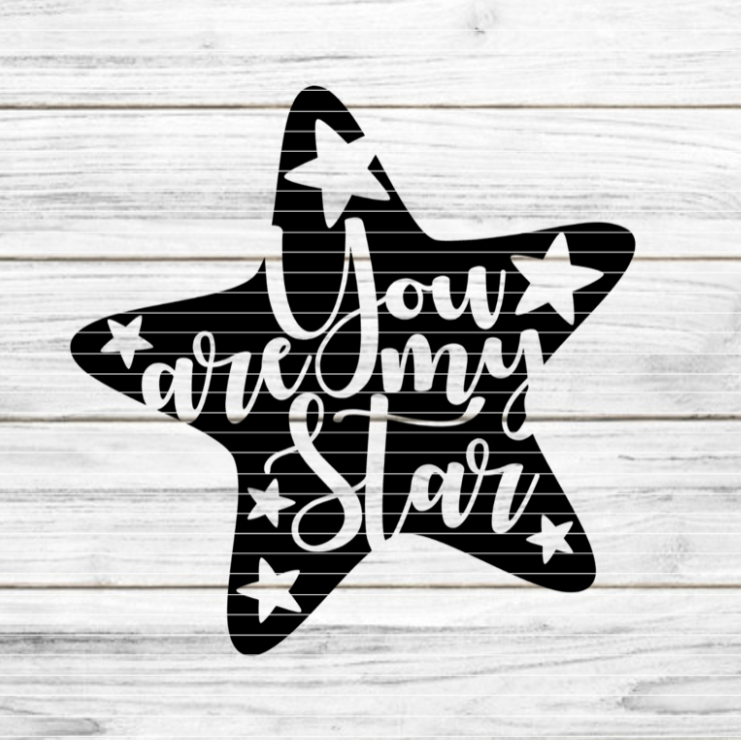 Plotterdatei - Stern You are my Star SVG DXF