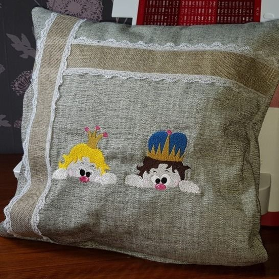 Stickdatei-Set Prinzessin Lotta, Prinz Friedrich 10x10 bei Makerist - Bild 1