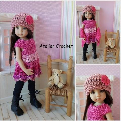"""Miss January"" crochet pattern for Little Darling"