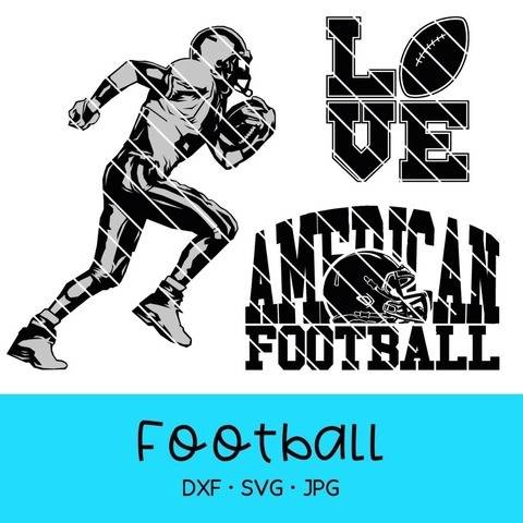 "Cutting file ""football"", for party, hoodie, deko, shirt"