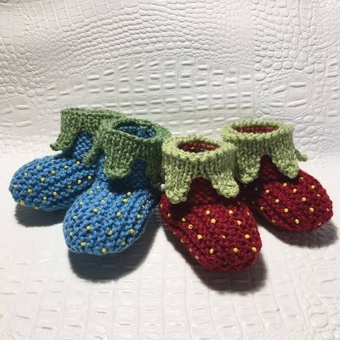 My Strawberry slippers - sizes 3-6 months and 6-9 months bei Makerist