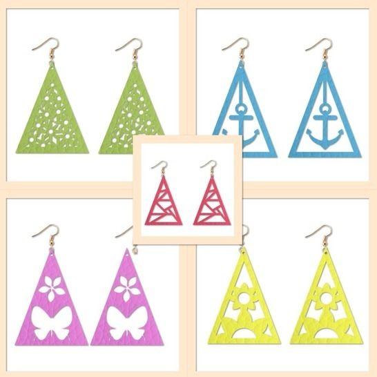 5x Ohrringe (Dreieck)  - Plotterdateien bei Makerist - Bild 1