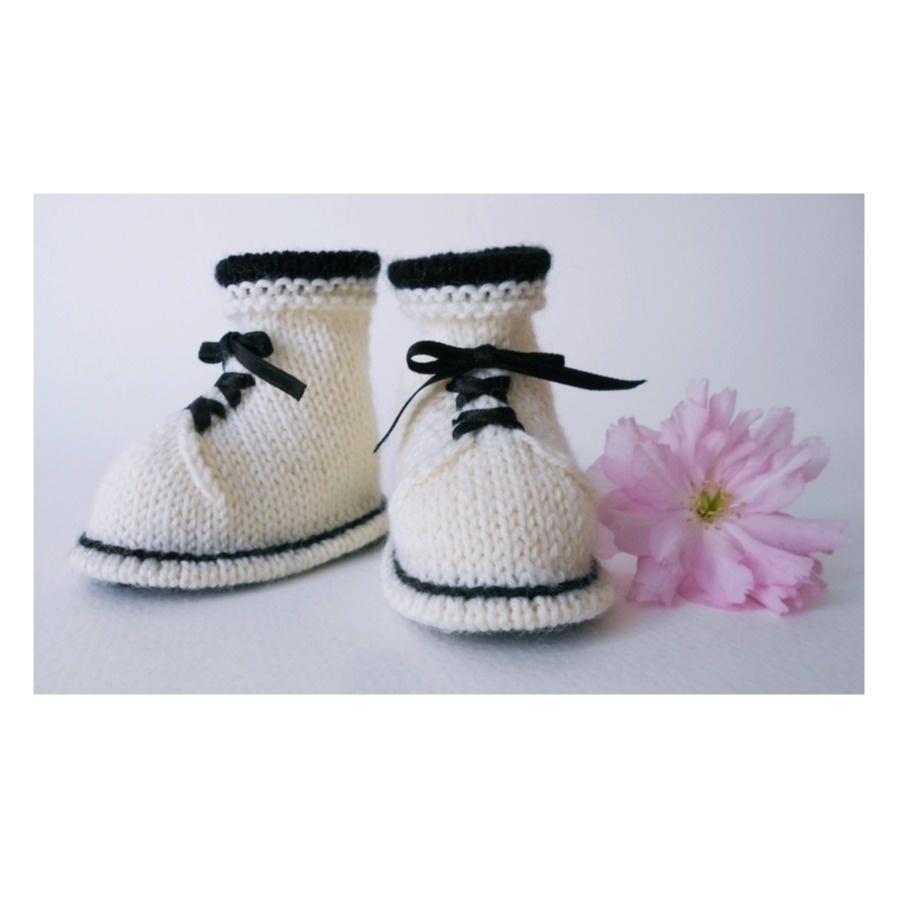 Chaussons bottine à lacets