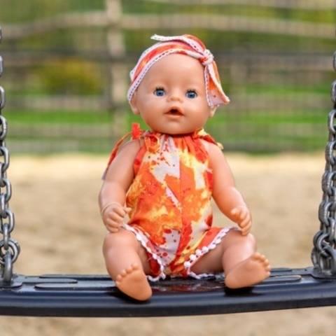 Puppe Jumpsuit EVERLY Nähanleitung + Schnitt