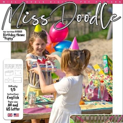 Birthday theme PEPPY PDF Pattern + Tutorial at Makerist