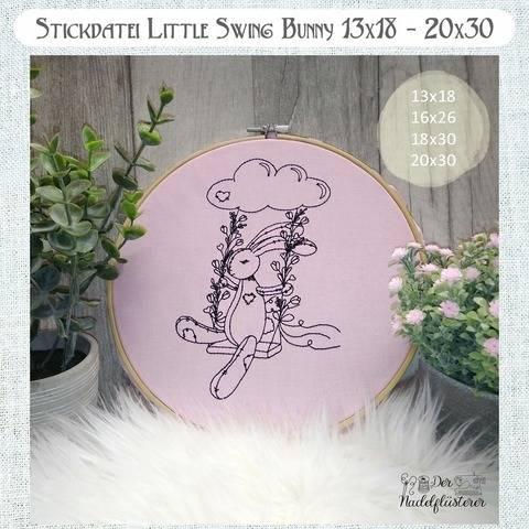 Digitale Stickdatei Little Swing Bunny  13x18 - 20x30 bei Makerist