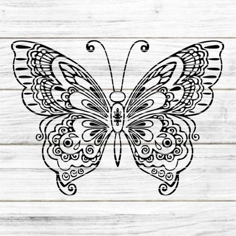 Der Schmetterling SVG DXF Plotterdatei
