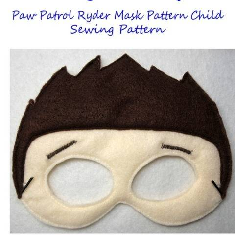 Paw Patrol Ryder Mask Sewing Pattern Child Size Pretend Play