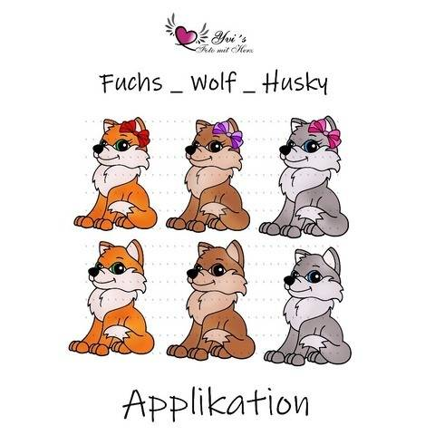 Applikation Fuchs _ Wolf _ Husky bei Makerist