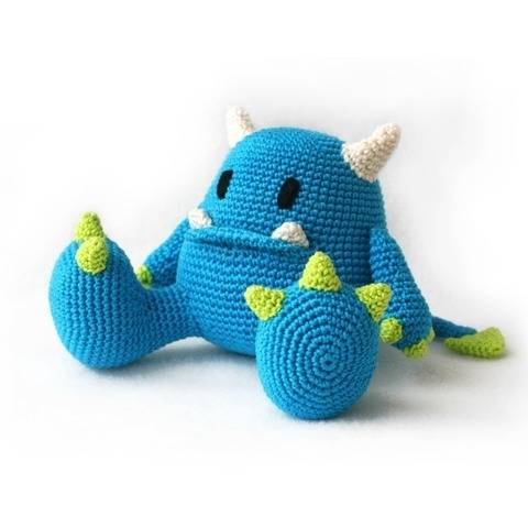 Mr Blue le monstre - amigurumi au crochet