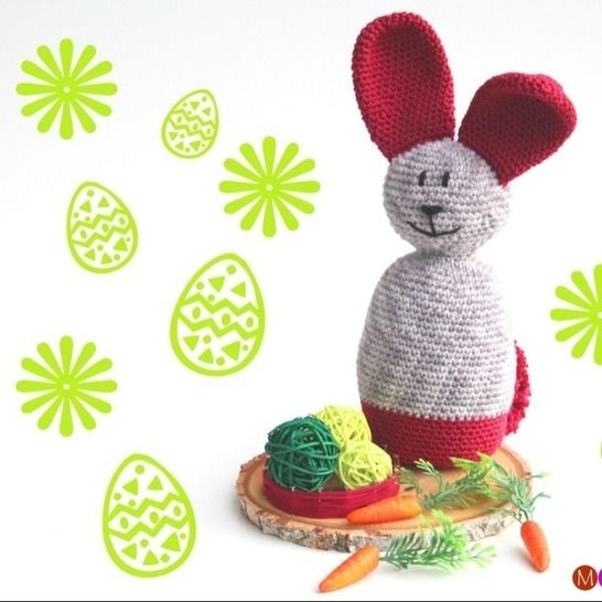 Häkelanleitung Hase Hoppel - Dekoidee für Ostern bei Makerist - Bild 1