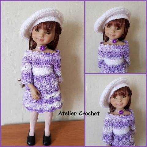 """Azalée"" crochet pattern for Fashion Friends Dolls"