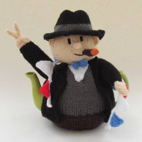 VE Day Winston Churchill Tea Cosy Knitting Pattern