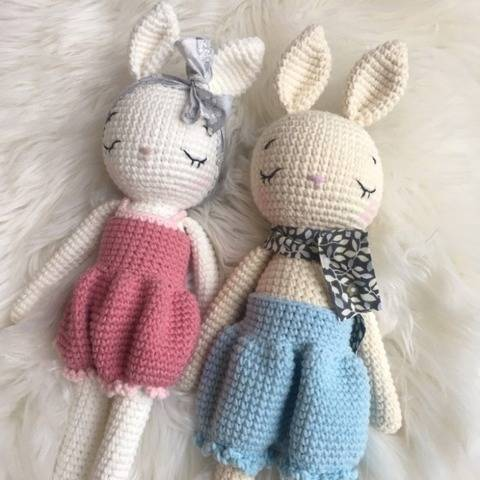 Colin and Coline the bunnies
