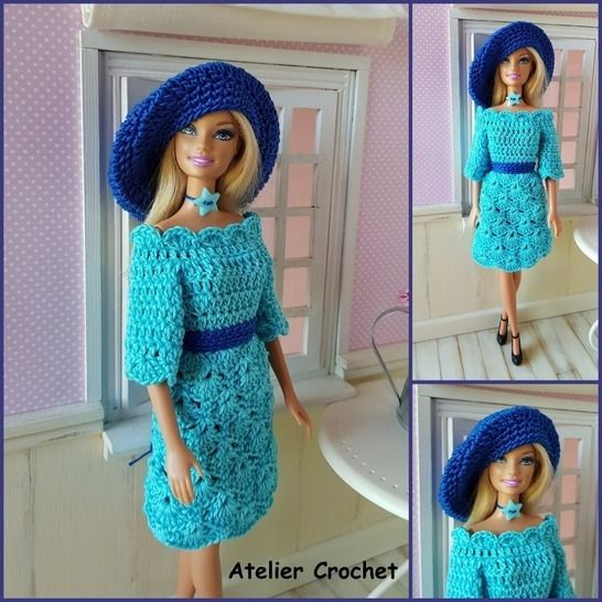 """Azalée"" crochet pattern for Barbie at Makerist - Image 1"