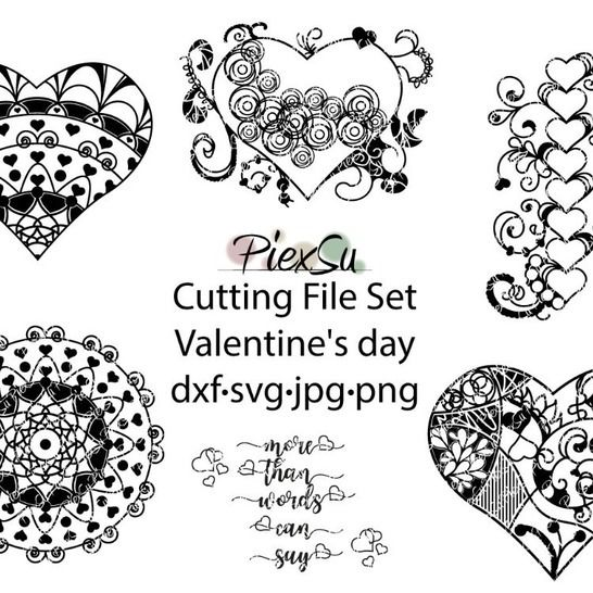 """DXF, SVG Cutting File """"Valentines Day"""" by PiexSu at Makerist - Image 1"""