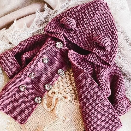 BABY JACKET 4 Sizes PDF Knitting Pattern at Makerist - Image 1