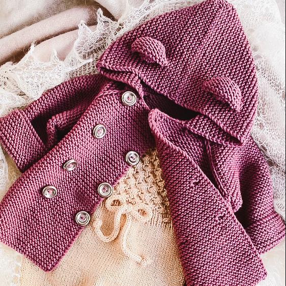 BABY JACKET 4 Sizes PDF Knitting Pattern