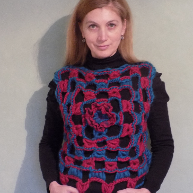 Lacy Broomstick Crochet Top or Sleeveless Sweater Pattern