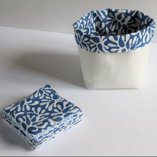 Les lingettes lavables et leur panier de rangement chez Makerist - Image 1
