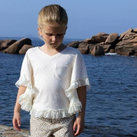 T-shirt Poncho Trestraou ! Patron de couture PDF / 2-10 ans
