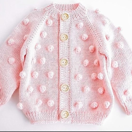 POPCORN CARDIGAN Knitting Pattern at Makerist - Image 1