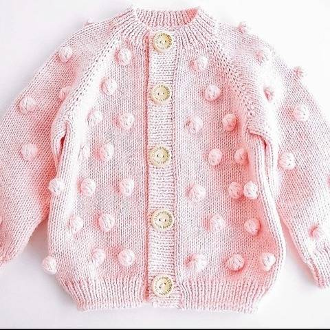 POPCORN CARDIGAN Knitting Pattern