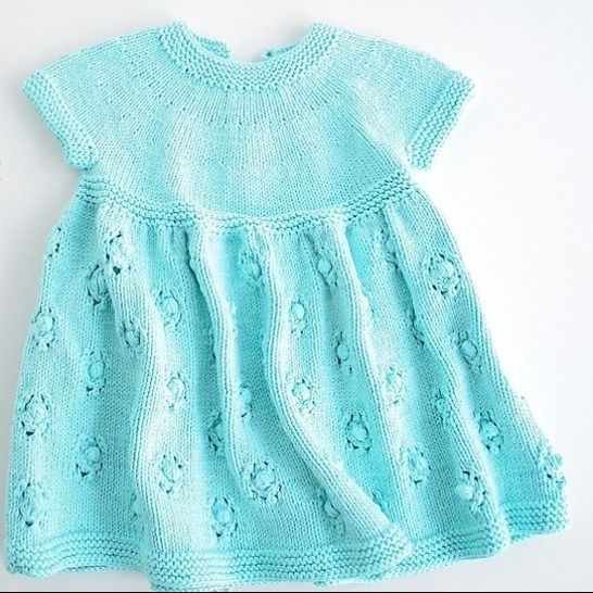 """PARTY DRESS """"ROSIE"""" Knitting Pattern at Makerist - Image 1"""