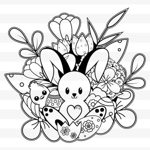 Frohe Ostern  - Plotterdateien / Ausmalbild