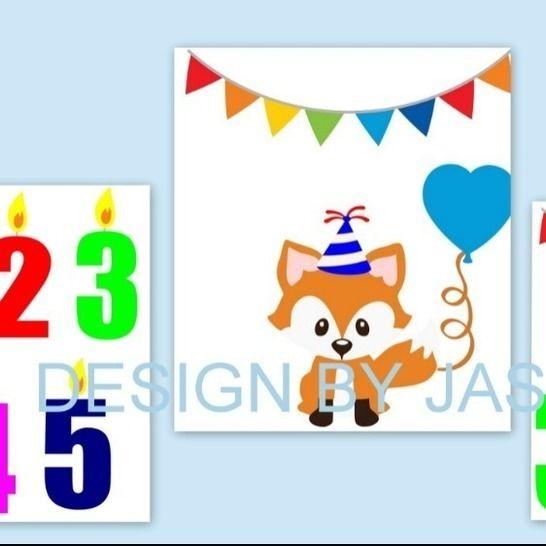 Plotterdatei  SVG  Fuchs Party Geburtstag bei Makerist - Bild 1