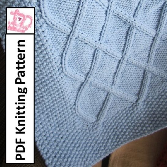 Diamond Cable Baby Blanket at Makerist - Image 1