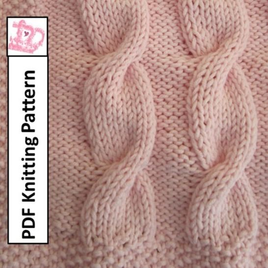 Baby Cable Blanket at Makerist - Image 1