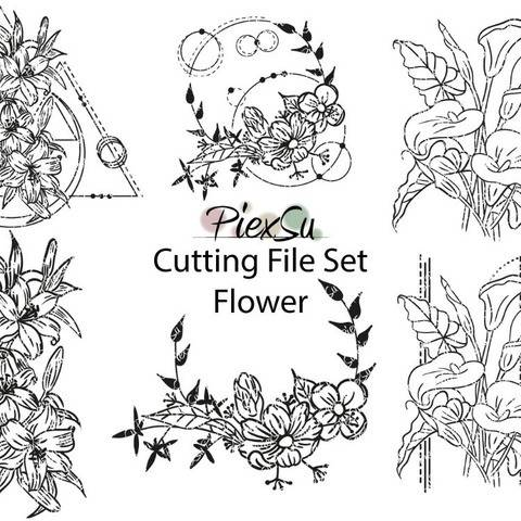 "DXF, SVG Cutting File ""Flower"" by PiexSu"