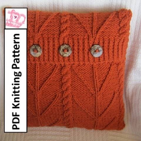Cable knit pillow cover - Branching Out