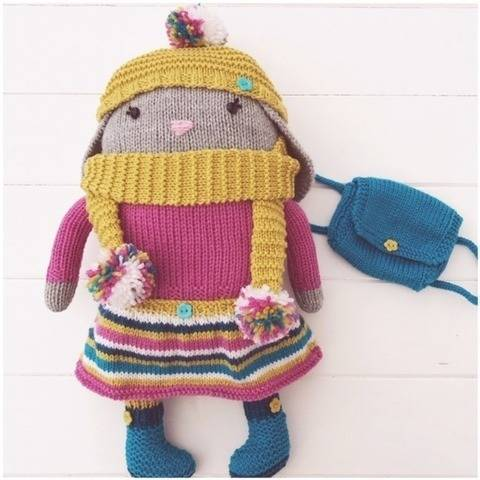Hand Knitted Toy Rabbit Doll 'Lola' PDF Pattern