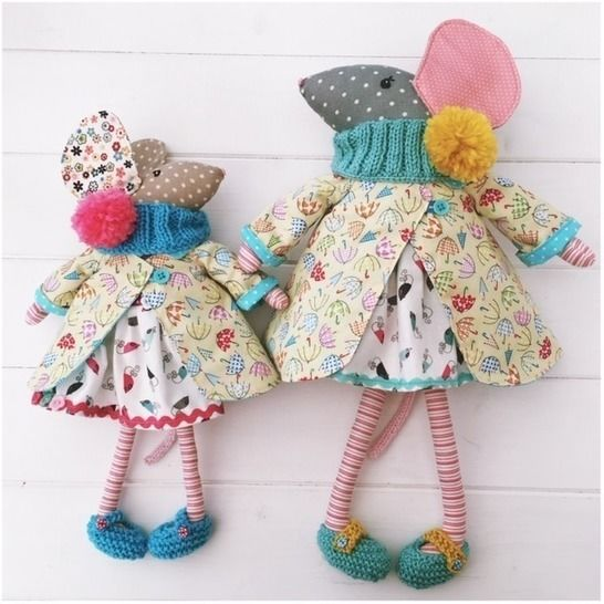 Dress Up Mice Cloth Dolls Mother and Daughter PDF at Makerist - Image 1
